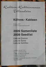 2009 Samenliste !! kakteen book cactus SEEDS CATALOGUE catalogo vivaio piante
