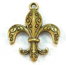 10Pcs. Tibetan Antique Bronze Fleur de Lis Charms Pendants Earring Drops  FDL20