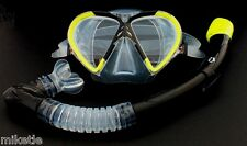 Snorkeling Diving Silicone Set WIL-DS-9Y   *100% dry snorkel and mask