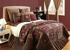 Millsboro Luxury California King Log Cabin Patchwork Quilt by VHC Brands
