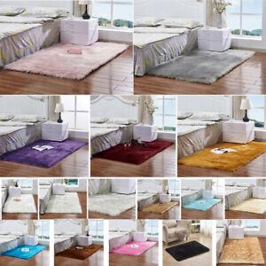 Faux Fur Sheepskin Rug Soft Fluffy Carpet Non Slip Floor Mat Living Room Bedroom