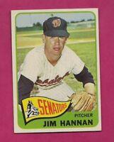 1965 TOPPS # 394 SENATORS JIM HANNAN NRMT CARD (INV# A5020)