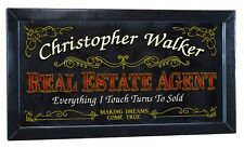 Real Estate Agent Personalized Bar Occupational Mirror Sign Pub Office
