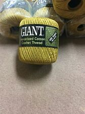 12 roll lot of GIANT Golden-Brown size 10 Cotton Crochet Thread, 400 yd per roll