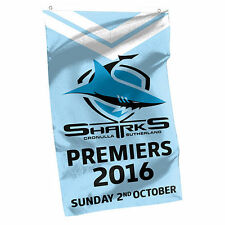 2016 Premiers Premiership CRONULLA SHARKS NRL Cape Wall Flag Banner Gift 16489AL