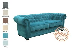 SOFALICIOUS Imperial Chesterfield 2 Seater Sofa Bed Fabric