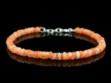 Agate Round Shape Beads Bracelet (Rs) 47.00 Cts Earth Mined Untreated Orange