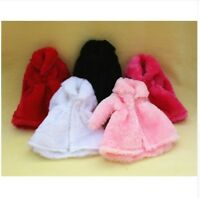m - 9 COLORI CAPPOTTO BARBIE ABITO OUTFIT ELEGANTE PRINCESS DOLL DRESS ACCESSORI