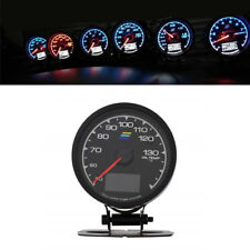 62mm 2.5 Inch 7 Color LCD Digital Gauge Oil Temp Gauge & Voltage Meter & holder