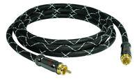 5m SunshineTronic Subwoofer-Kabel Koaxial-Kabel 4-Fach-Abschirmung BlackLine-5