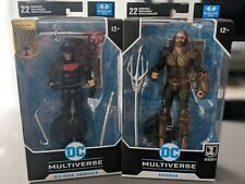 DC Multiverse LOT OF 2 Red  Hood & Aquaman Exclusive McFarlane Gold Label New
