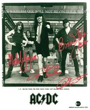 AC/DC GROUP BAND AUTOGRAPHED 8x10 RP PHOTO ANGUS MALCOLM YOUNG BRIAN AC DC