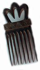 GEOMETRIC DESIGN 10-TOOTH WOOD HANDMADE PRESTIGE ACCESSORY HAIR COMB TANIMBAR
