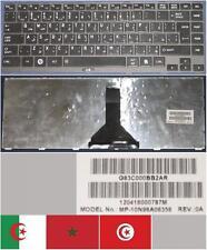 CLAVIER QWERTY ARABE TOSHIBA R845 G83C000BB2AR MP-10N96A06356 Noir