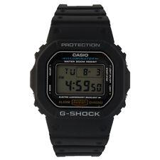 Casio Men's Black 1V G-Shock Classic Digital Stop Watch w/ Day & Date - DW5600E
