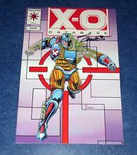 X-O MANOWAR DATABASE #1 signed 1st print JIM SHOOTER VALAINT COMIC 1993 COA