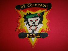 Vietnam War Patch US 5th Special Forces Group MACV-SOG RT COLORADO FOB-4