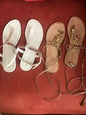 Designer Sandals White size 10 Cole Haan/ Gold size 10 Lilly Pulitzer