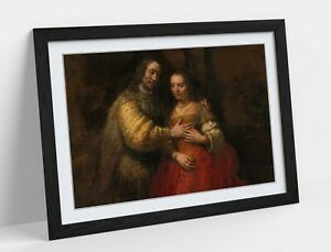 REMBRANDT, THE JEWISH BRIDE -DEEP FRAMED ART PICTURE PAPER PRINT