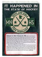 1945 FIRST HIGH SCHOOL TOURNAMENT MINNESOTA WILD NHL HOCKEY SGA PREMIUM PATCH