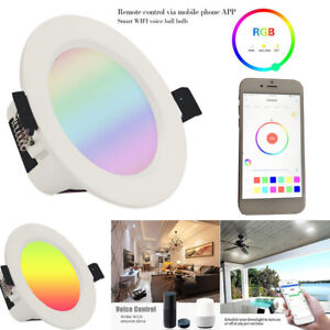 E27 Dimmable WIFI Smart Down Light APP Remote Control Recessed Bulb Ceiling Lamp