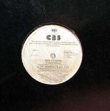 """MEN AT WORK Overkill - 12"""" Single - White Label - Promo"""