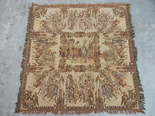 Vintage French Beautiful Warrior Scene Tapestry 151x147cm (A319)