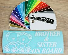 Brother & Sister On Board Car Sticker Vinyl Decal Adhesive Bumper Tailgate Baby