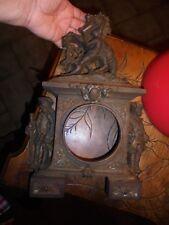 Superbe Façade en Fonte d'Ancienne Pendule Soldat Royaliste Dresseur de Chevaux