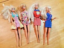 Lot of 4 1966 barbies includes nurse with working stethoscope