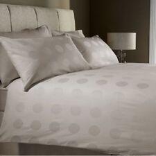 100% Cotton Single 400 Thread Count Jacquard Duvet Cover Set POLKA SPOT STONE