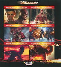 More details for madagascar 2021 mnh dc superheroes stamps the flash movies comics 6v impf m/s