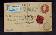 1915 London England Red Wax Seal Postal Stationery Cover to Berkshire