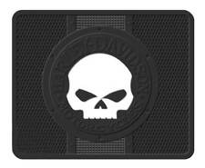 Harley-Davidson Utility Mat, Willie G Skull Single Floor Mat, Black 1152