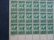 DOCTORS MAYO  USPS Stamps (plate block of 18)  #1251