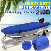 4.3m - 4.5m Trailerable Heavy Duty Open Boat Cover Fishing Runabou