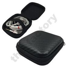 Carbon Fibre Look Portable Case Box Headset Earphone Zip Storage Pouch Case Bag
