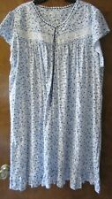 NWT - Eileen West Lace Short Sleeve 100% Cotton Nightgown SZ 3X