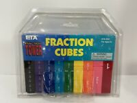 FRACTION CUBES FRACTION TOWER BY LEARNING RESOURCES 51 COLOR CODED BLOCKS NEW