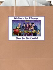 (18)Personalized Disney Descendants Party Stickers,Birthday Favors Labels Supply