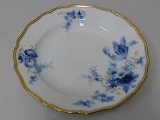 Meissen Teller aus Porzellan | Handbemalt | Blaue Blumenmalerei | Goldrand