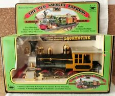 80s Vintage Toy Train The Old Smokey Express, Battery Op Locomotive, Real Smoke!