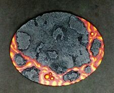 120mm x 92mm PAINTED oval resin base Lava Warhammer 40k