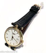 - 50 % orologio nuovo LONGINES L73756122 in oro giallo 18 kt bianco con datario