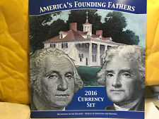 2016 America's Founding Fathers Currency Set 2013 New York $1 2013 Dallas $2