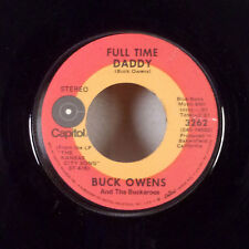 """Buck Owens Full Time Daddy / I'll Still Be Waiting For You 7"""" 45 Capitol M-"""