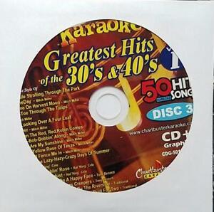 CHARTBUSTER 1930'S & 1940'S HITS KARAOKE CDG 5018-03 CD+G MUSIC -MITCH MILLER