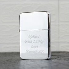 Personalised Silver Windproof Lighter 18th,21st,30th,40th,50th Birthday Gift