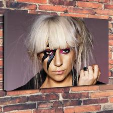 "Lady Gaga Printed Box Canvas Picture A1.30""x20"" 30mm Deep Frame Nirvana"