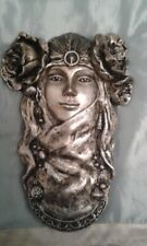 Art Nouveau Style Ladyhead bronze or silver effect wall decor
